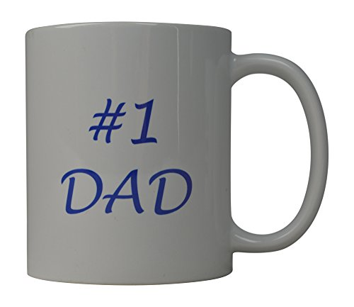 One Great Cup - Funny Coffee Mug #1 Dad Novelty Cup Great Gift Idea For Dad Father Number One