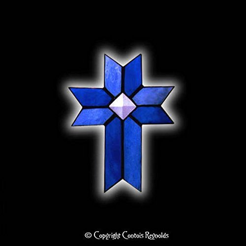 Stained Glass Christian Cross Suncatcher ~ Easy to Hang!