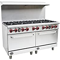 Heavy Duty Commercial 60 Gas 10 Burner Range with Oven