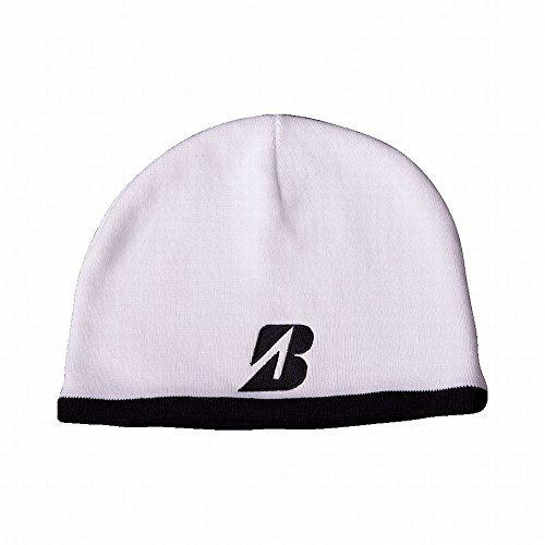 Bridgestone Golf Beanie (White, One Size) Fleece Line Hat