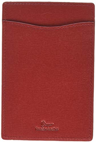 Royce Leather RFID Blocking Slim Travel Passport Wallet in Saffiano Leather, Red ()