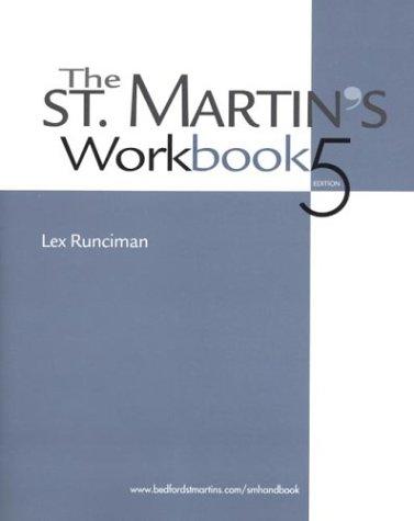 The St. Martin's Workbook