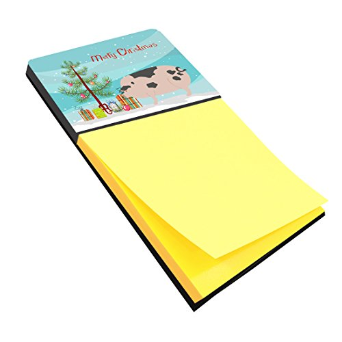 Caroline's Treasures Gloucester Old Spot Pig Christmas Sticky Note Holder, Multicolor - Stores In Gloucester