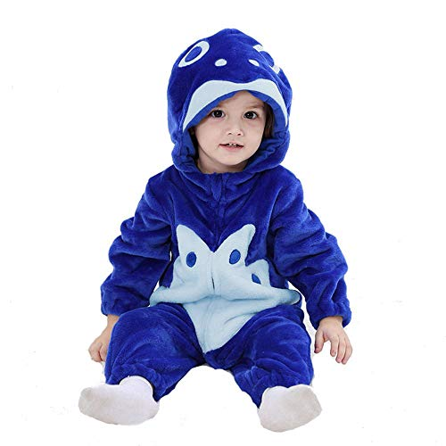 VIFUUB Baby Winter Romper Cow Pajamas Jumpsuit Outfits for -