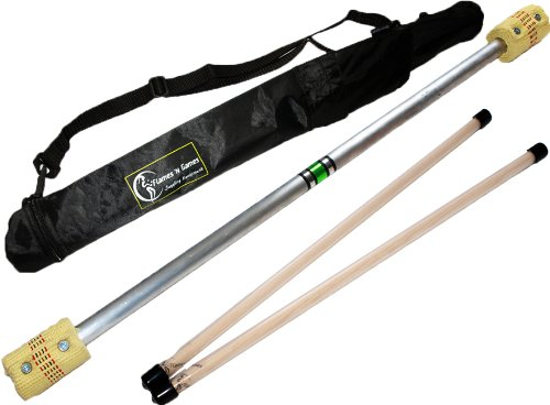 Price comparison product image Flames N Games FIRE Devil Stick Set (65mm Wicks) WOODEN Sticks, and a Travel Bag! Juggling Devil sticks for Beginners & Pro's!
