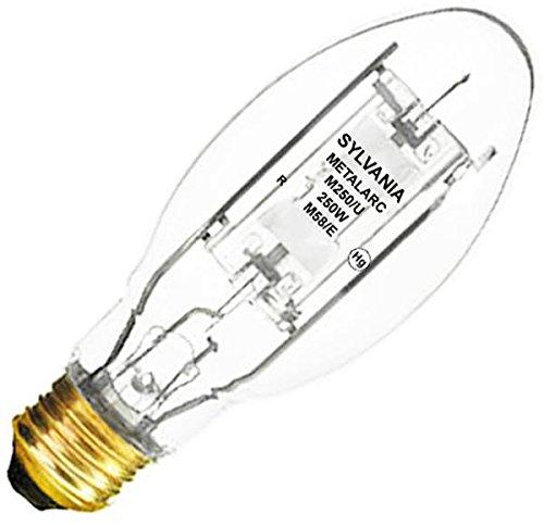 SYLVANIA 64032 M250/U 250W METALARC QUARTZ METAL HALIDE LAMP, E39 MOGUL BASE, CLEAR, ENCLOSED FIXTURE RATED