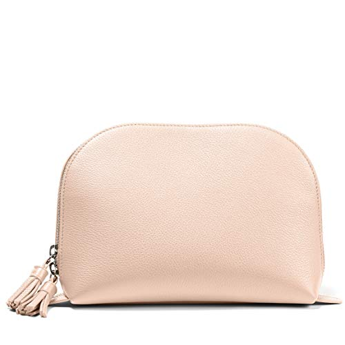 e7ec05bbc5 Jual Large Clamshell Makeup Bag - Full Grain Leather Leather - Rose ...