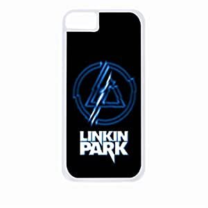 Linkin Park Blue Electric-Hard White Plastic Snap - On Case-Apple Iphone 5C Only - Great Quality!