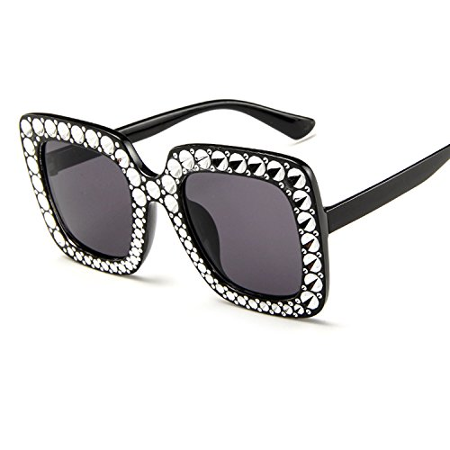鉄エレメンタル意気込みサングラス 女性 大型化 正方形 クリスタル サングラス メガネ ファッションサングラス