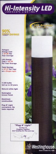 Westinghouse Hi-Instensity LED Landscape Light - Remington Bronze Finish : Item 445771-78P