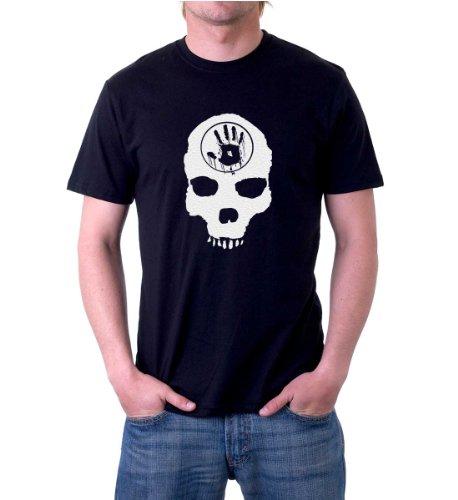 Xtees - Mens Skyrim The Dark Brotherhood Skull Black Door T-Shirt - Small - Black