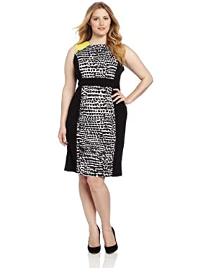 Calvin Klein Women's Mix Print Dress