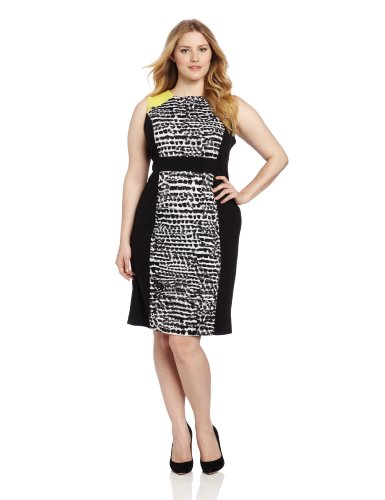 Print Mix Combo Women's Calvin Black Klein Dress wtxUpEPq