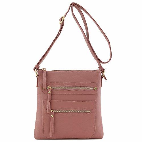Bag Faux Soft Large leather Lightweigt Redstone Crossbody 5AxZqXF6w