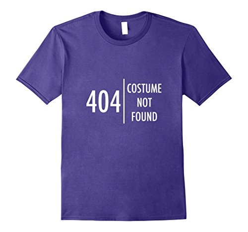 Cheap And Easy Halloween Costumes For College Students (Mens Error 404 Costume not found Nerdy Halloween T-Shirt Funny Small Purple)