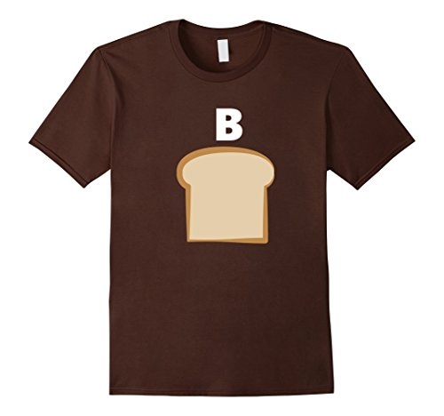 Funny Duo Costumes For Halloween (Mens PB&J Funny Group Halloween Costume Shirt Medium Brown)