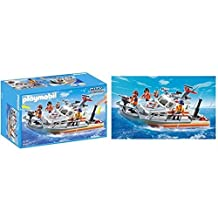 PLAYMOBIL CITY ACTION - COAST GUARD - RESCUE BOAT WITH WATER HOSE