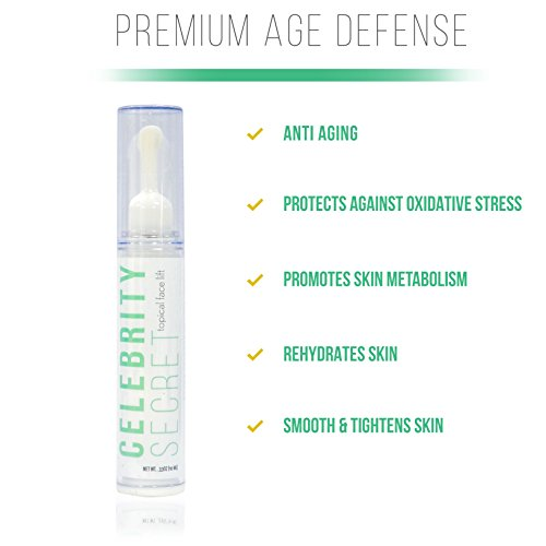 Celebrity Secret Topical Face Lift-Instant Face Lift Serum-Eye Lift-Tighten Skin-Face Lift-Face Cream-Wrinkle Filler-Winkle Creams-Younger, Healthier Complexion-Works in Minutes!(10ML)(1-Month Use)