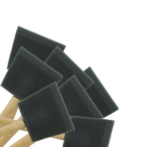 3'' Foam Brushes; 24 pcs. By Peachtree Woodworking - PW1185 by Peachtree Woodworking