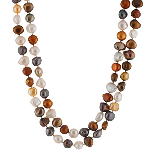 Handpicked A Quality Mixed Size Multicolor Baroque Freshwater Cultured Pearl Strand Endless 64