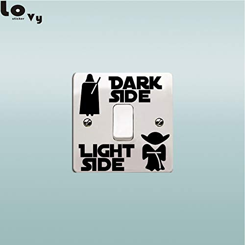 Amazon.com: Chitop Star Wars Stickers Classic Movie Dark Side Light Side Switch Sticker - Cartoon Vinyl Wall Sticker for Kids Room Bedroom Home Decor: Home ...