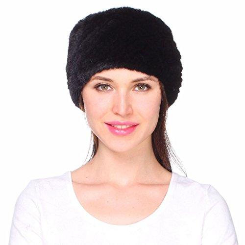 Mink Fur Headband Scarf - Ferand Women's Genuine Mink Knitted Fur Winter Headband Neck Warmer Scarf