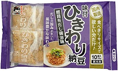 [冷凍] 業務用 大容量 ヤマダフーズ ひきわり納豆 30g しょうゆ味 10入×10個