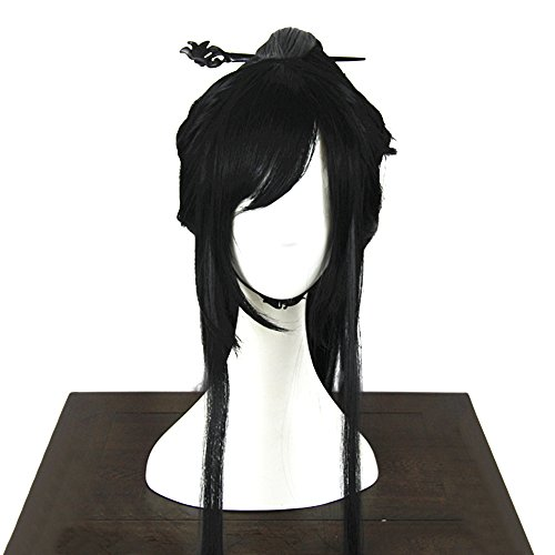 Wraith of East Women's Japanese Geisha Wig Asian China Costume Accessory Halloween Hairpiece Wood Hairpin