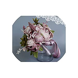 meet-you Wedding Bouquets Artificial Flower Bridesmaid Bridal Bouquet for Marriage YT004 6