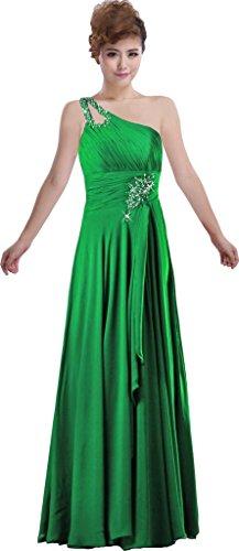 Fourmis Perle Un Bal Épaule Femmes Robe De Robes De Soirée Longues Vert