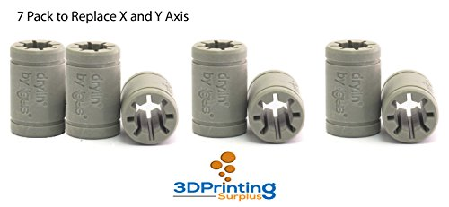 3D Printer Solid Polymer LM8UU Bearing 8mm shaft - Igus Drylin RJ4JP-01-08 for Anet A8 Prusa i3 3D Printer RepRap