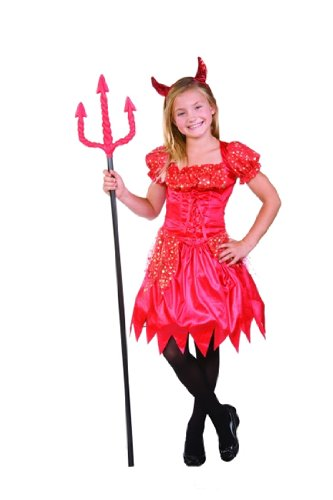 Devil Costumes - RG Costumes Glitter Devilina, Child Medium/Size 8-10