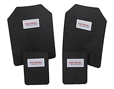 Tactical Scorpion Gear 10mm Paintball Airsoft 11x14+6x8 Protective Trauma Vest Plates