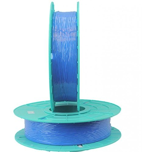 2.500 ft. Standard Paper / Plastic Blue Twist Tie Ribbons (10 Spools) - 03-2500-Blue by Miller Supply Inc