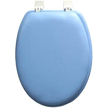Amazon Com Ginsey Elongated Blue Padded Toilet Seat Home