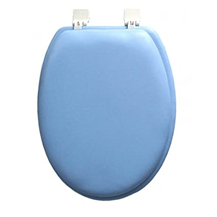 Amazon.com: Ginsey ELONGATED Blue Padded Toilet Seat: Home & Kitchen