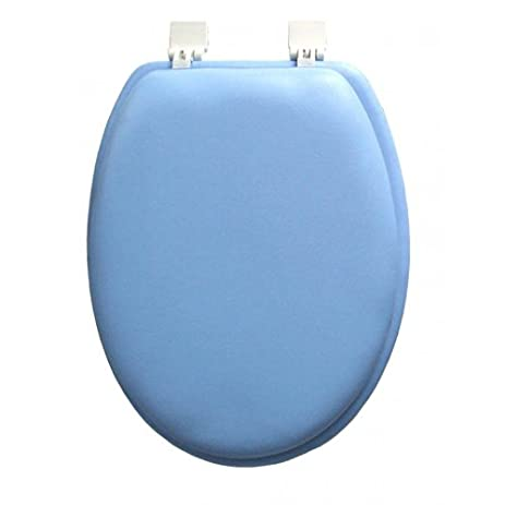 padded toilet seat elongated. Ginsey ELONGATED Blue Padded Toilet Seat Amazon com  Home Kitchen