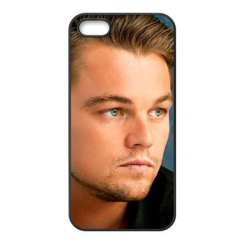 Leonardo Dicaprio 001 coque iPhone 5 5S cellulaire cas coque de téléphone cas téléphone cellulaire noir couvercle EOKXLLNCD25505