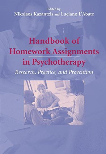 Handbook of Homework Assignments in Psychotherapy: Research, Practice, and Prevention