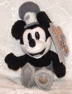 Disney Steamboat Willie Millennium Bean Bag, Mickey Mouse