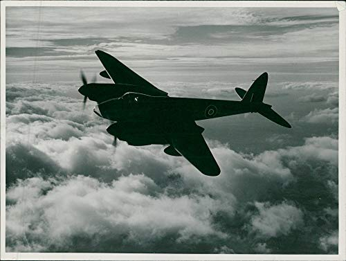 Twin Mosquito Engine (Vintage photo of de Havilland Mosquito Combat aircraft:Ib Blockbuster.)