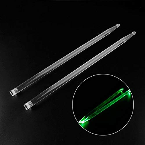 (Practice Drum Stick - 5A Acrylic Luminous Drum Stick For Dark Stage Performance - Jazz Drumstick)