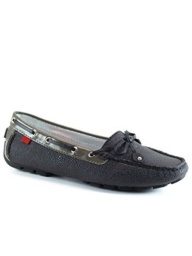 Marc Joseph NY Womens Cypress Hill Stingray Leather Driver Black Gray Size 6 Calf Leather Driving Shoes