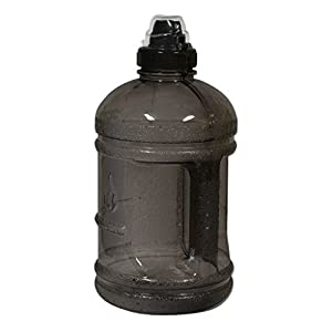 1/2 Gallon (64 oz.) Polycarbonate Plastic Water Bottle w/ 48mm Twist Cap - Black