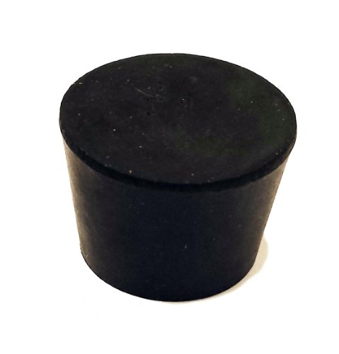 50 Pack 28mm Long Black Lab Plug #4 CleverDelights Solid Rubber Stoppers Size 4-26mm x 19mm