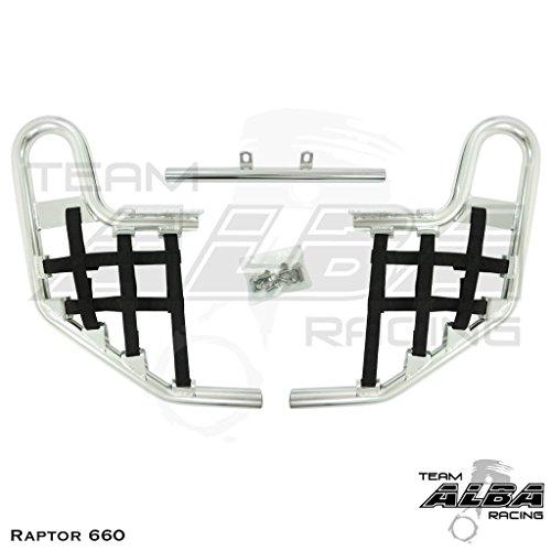 Yamaha Raptor 660 YFM 660R (2001-2005) Standard Nerf Bars Silver w/ Black Net (Nerf Raptor 660 Bars)