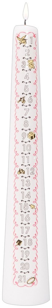 Celebration Candles 1 21 Year Numbered Birthday Candle White