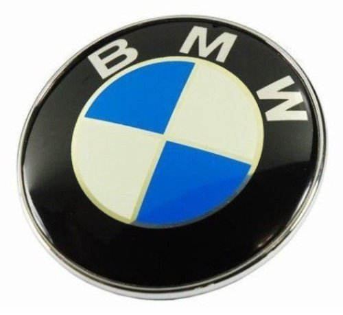 Exdiag BMW Roundel 2-Pins Emblem Logo for Front Hood and Rear Trunk, 82mm (E36 M3 Trunk Badge)