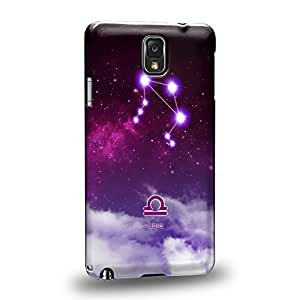 Case88 Premium DesignsThe 12 Zodiacal Constellations 3D Space Purple Libra zodiacal signs Protective Snap-on Hard Back Case Cover for Samsung Galaxy Note 3
