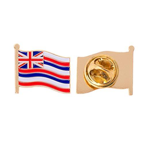 (Hawaii HI State Flag Lapel Pin Enamel Made of Metal Souvenir Hat Men Women Patriotic (Waving Flag Lapel Pin))